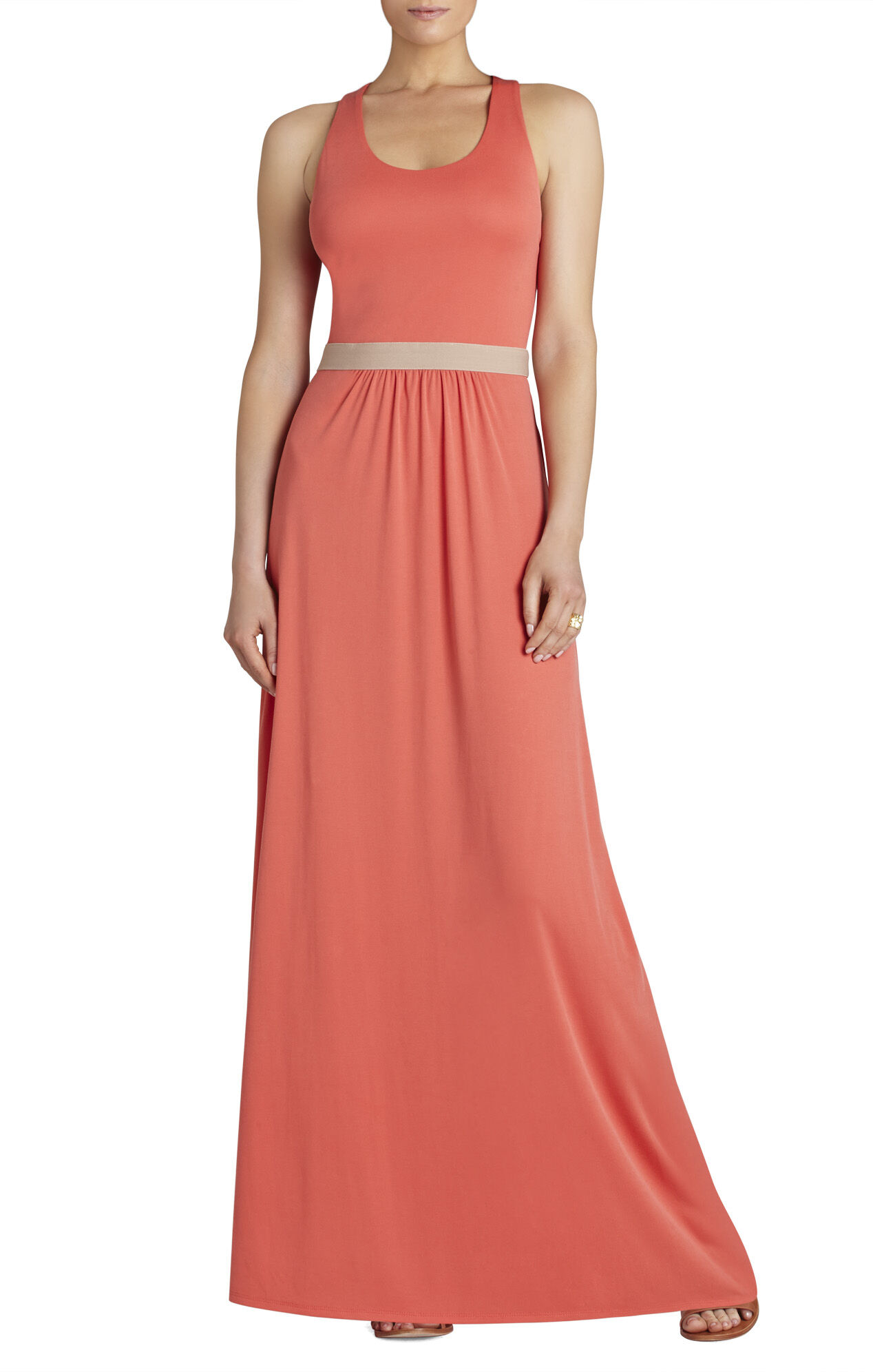 Adriene Twist-Back Long Dress