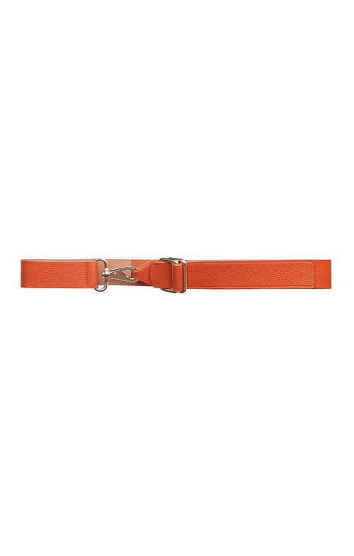 Swivel Clasp Faux-Leather Waist Belt