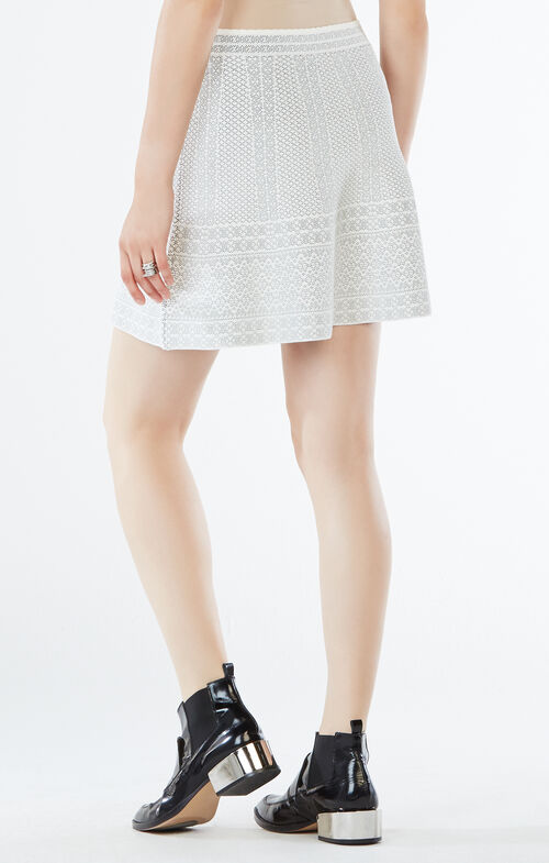 Queeny Knit Jacquard Skirt
