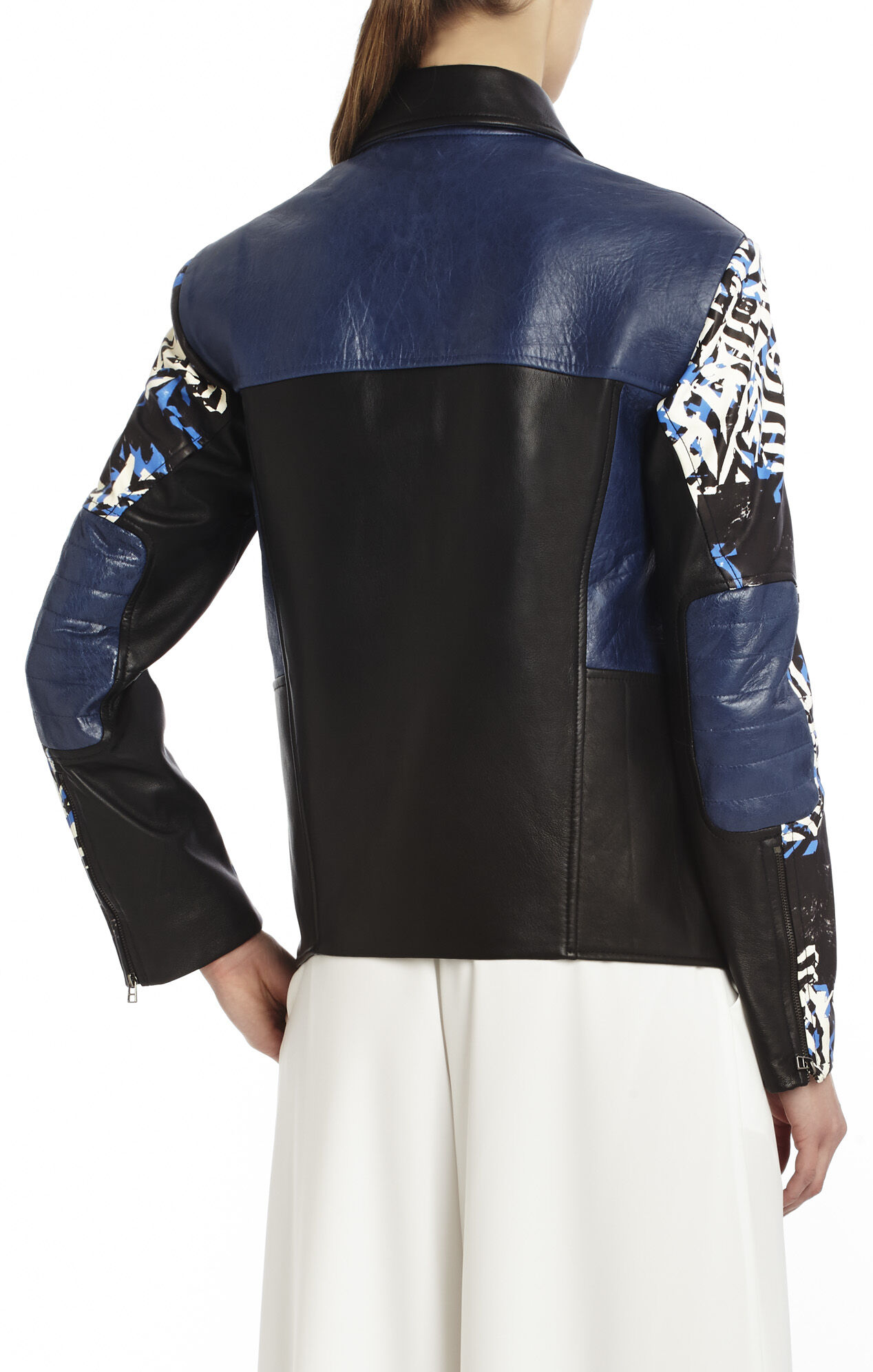 Runway Griffin Printed Leather Jacket