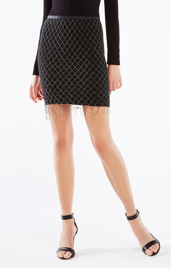 Belted Chain Skirt
