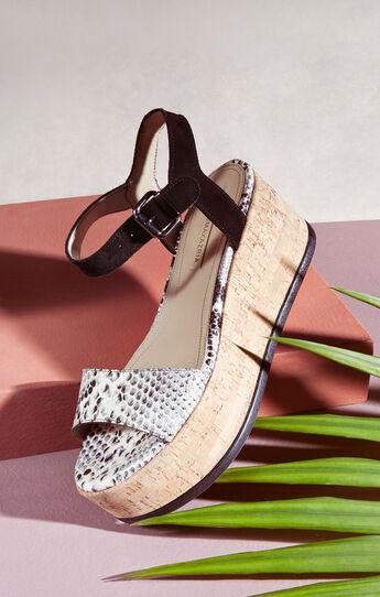 Lorenzo Platform Snake Print Leather Sandal