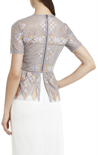 Caleste Lace Peplum Top