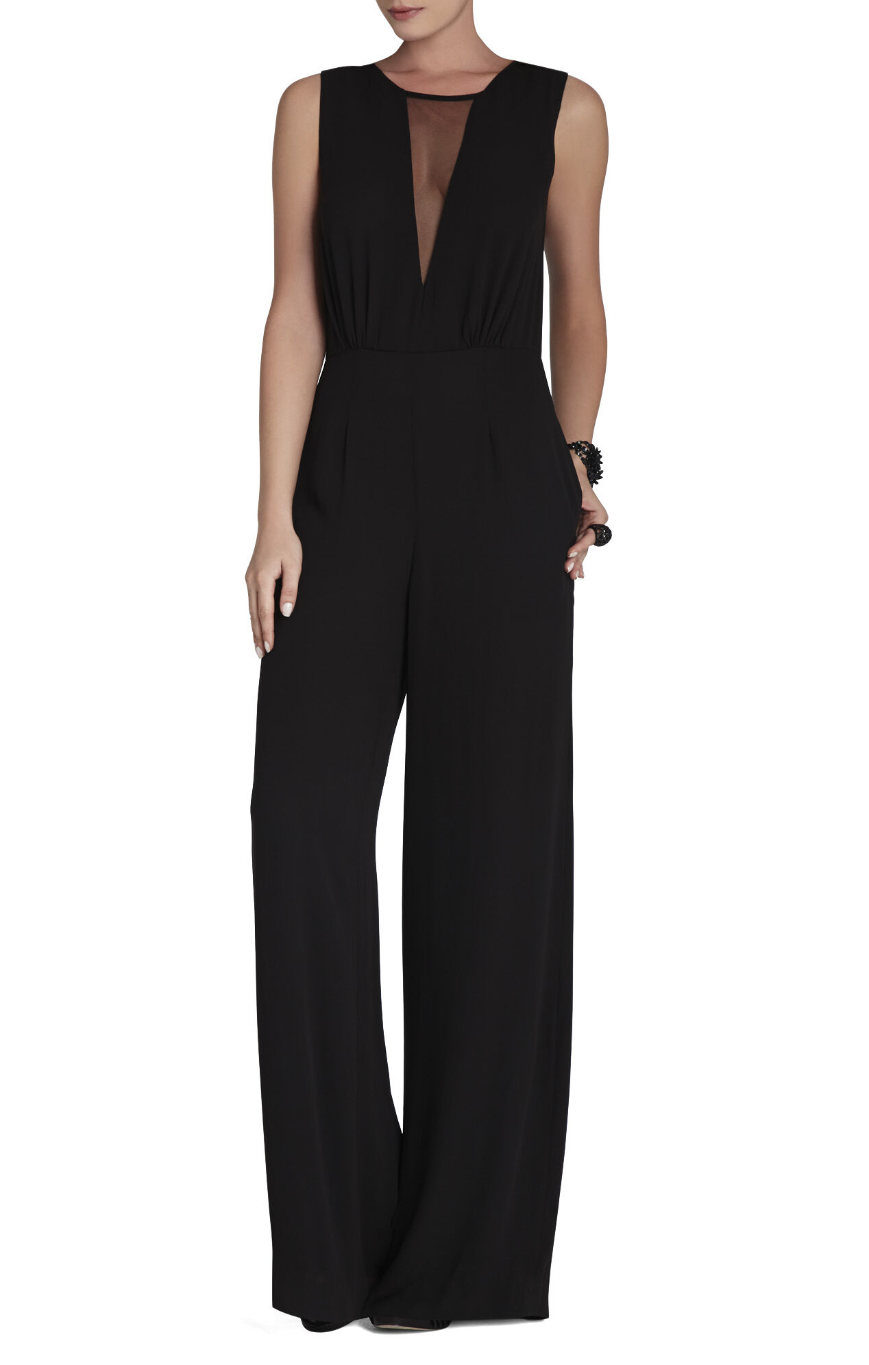 Behati Sleeveless V-Neck Jumpsuit