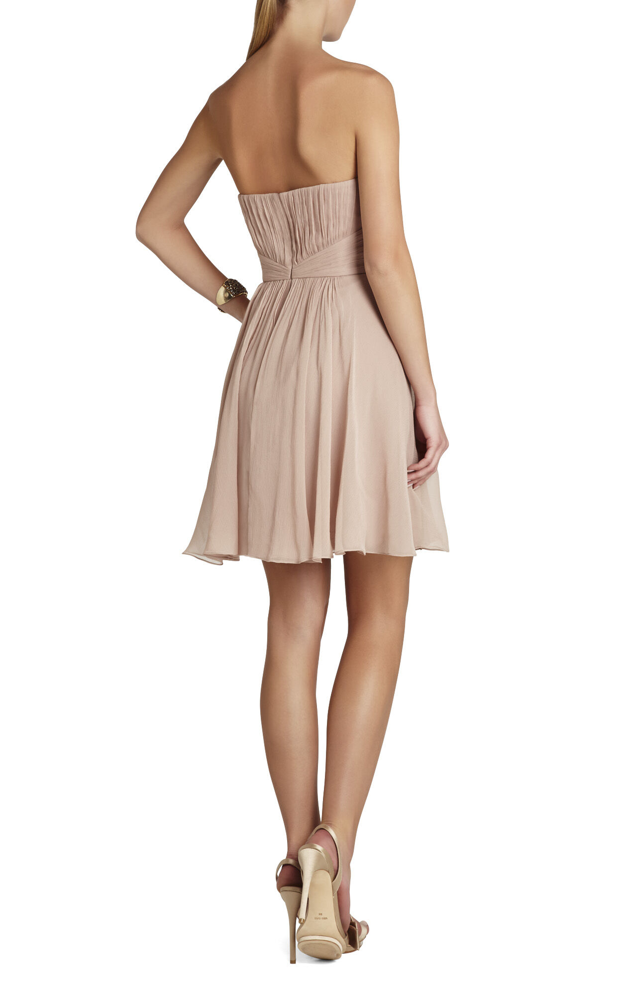 Duran Strapless Dress With Skirt Drape
