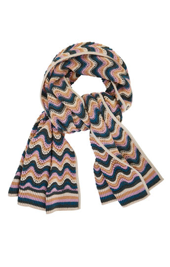 Striped Stitch Scarf