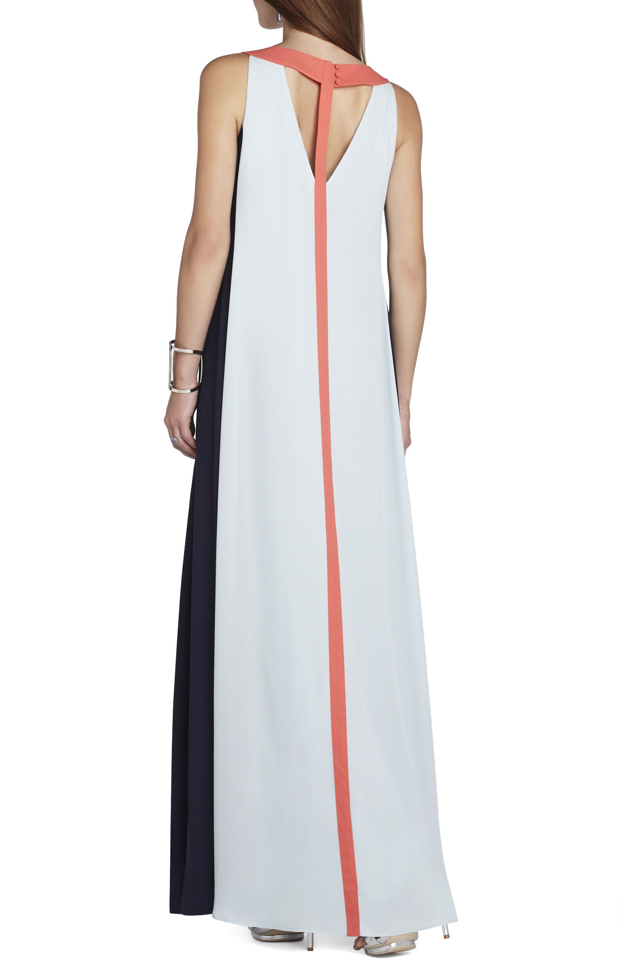 Wilah Color-Blocked Cutout Maxi Dress