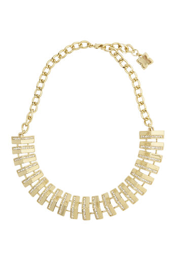 Pave Track Necklace