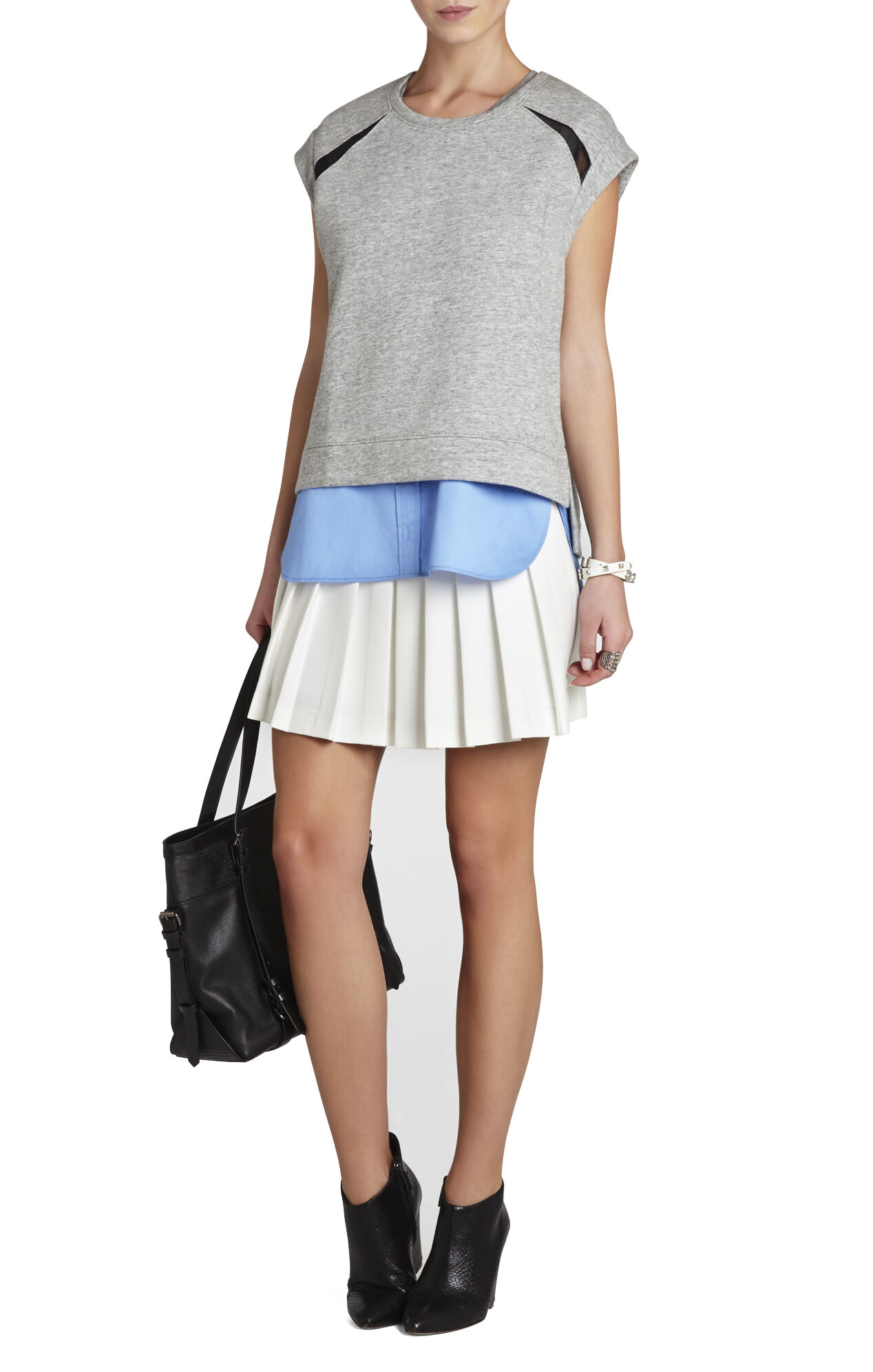 Shane Pleated Miniskirt