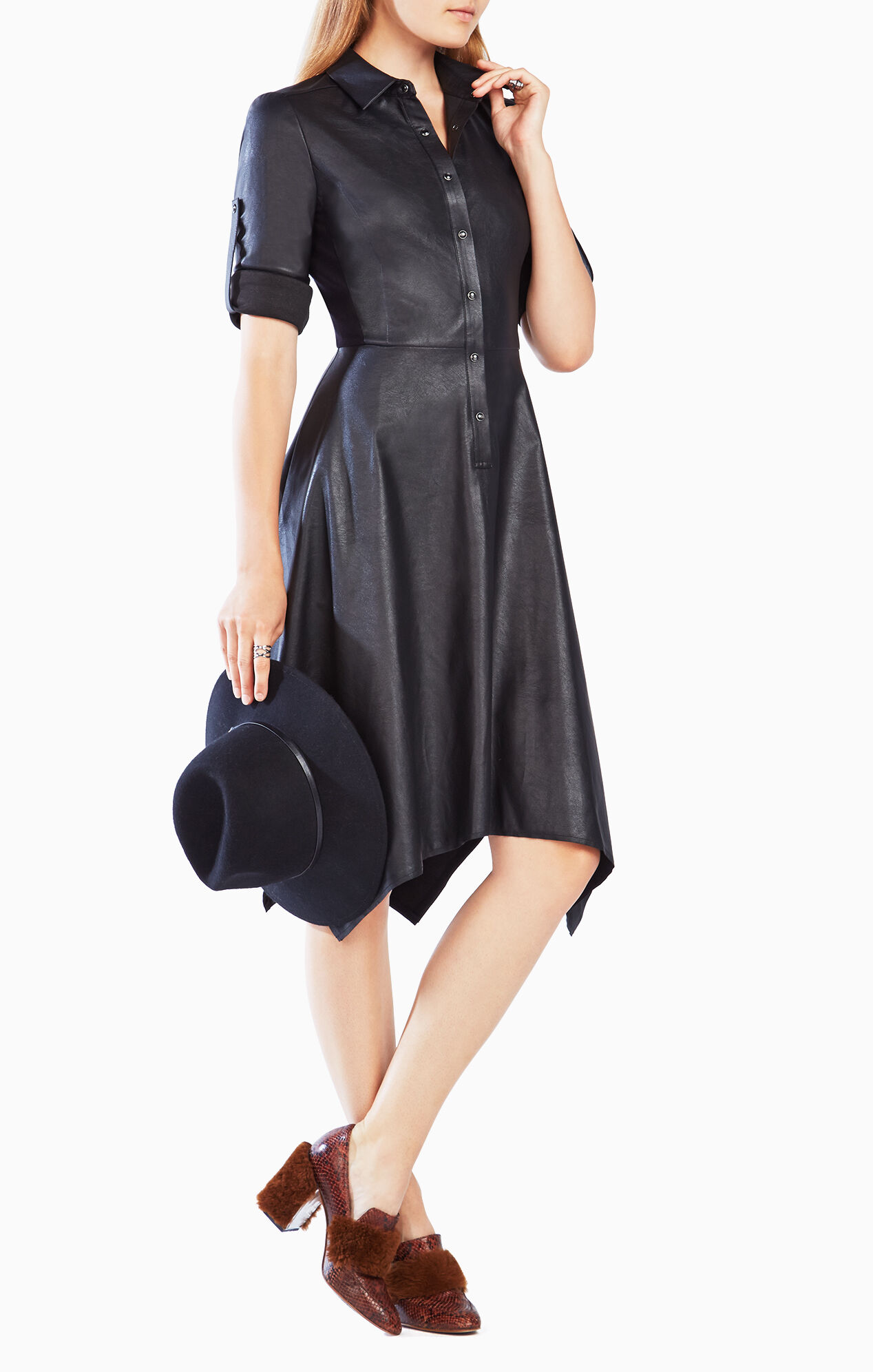 Beatryce Faux Leather Dress