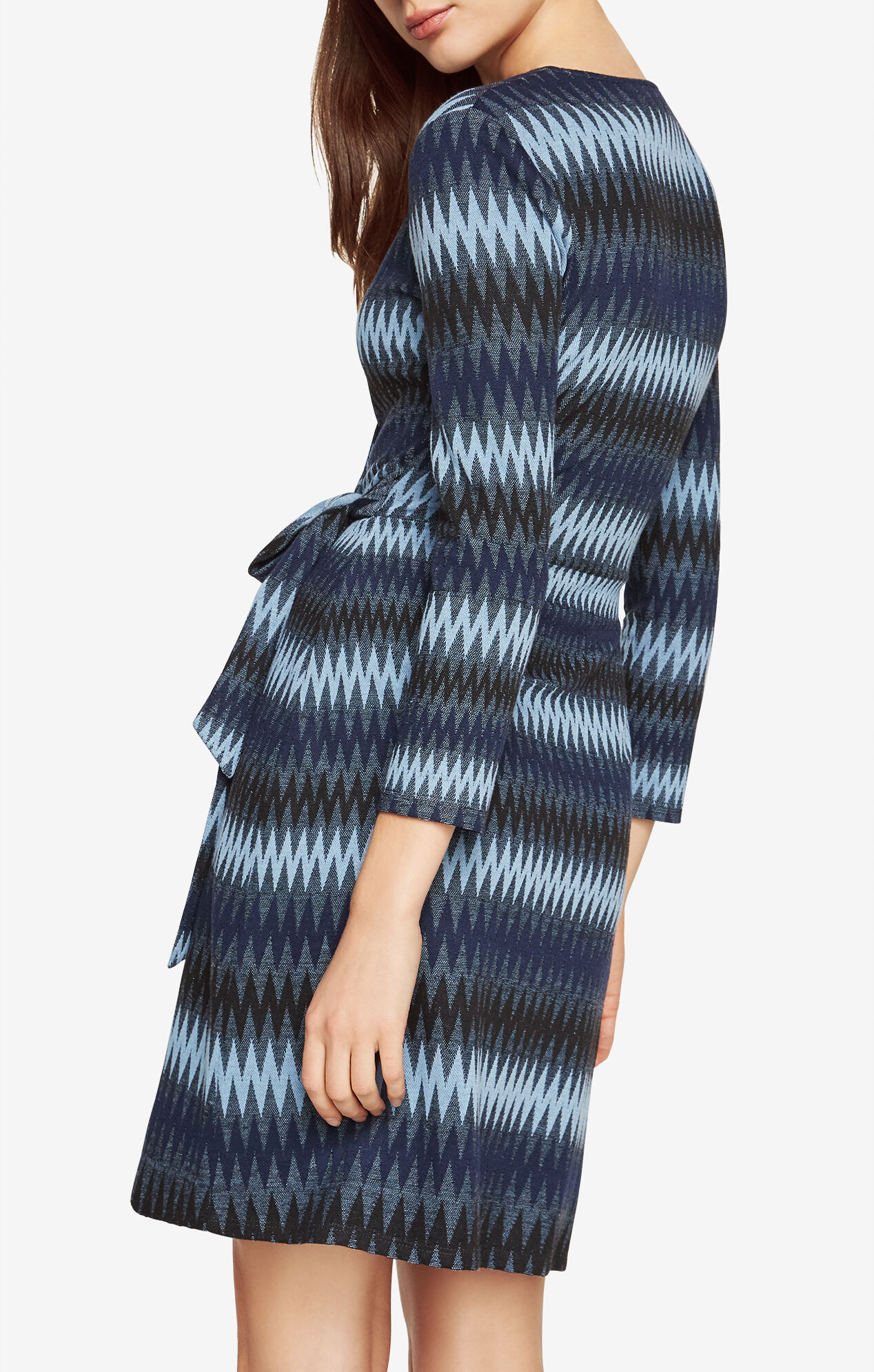 Adele Striped Wrap Dress
