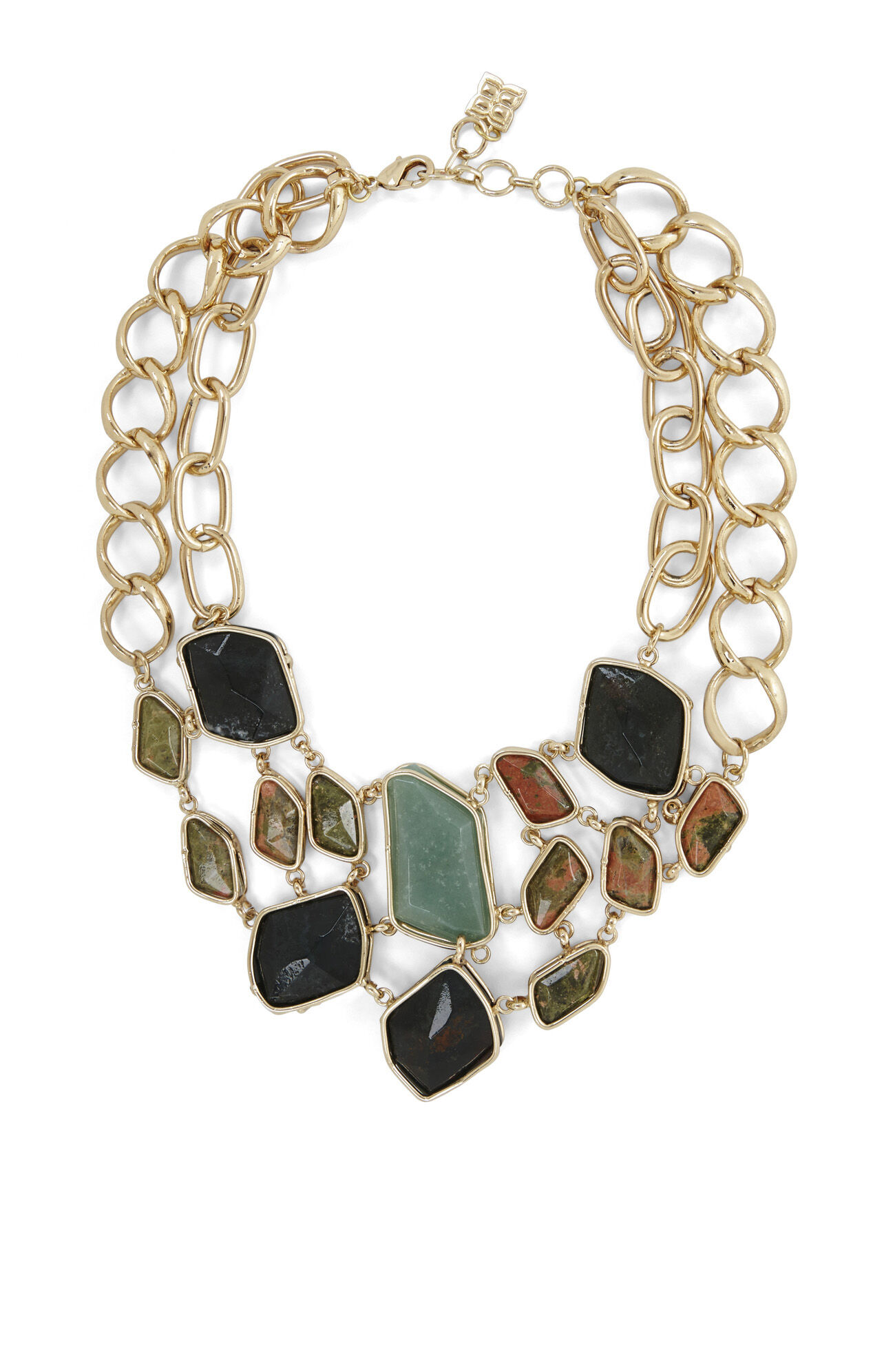 Natural-Stone Statement Necklace