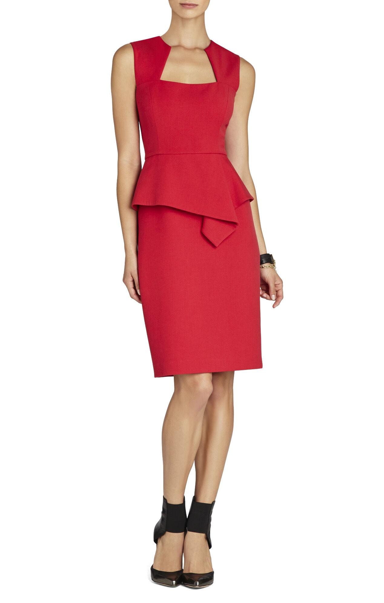 Simone Peplum Sheath Dress