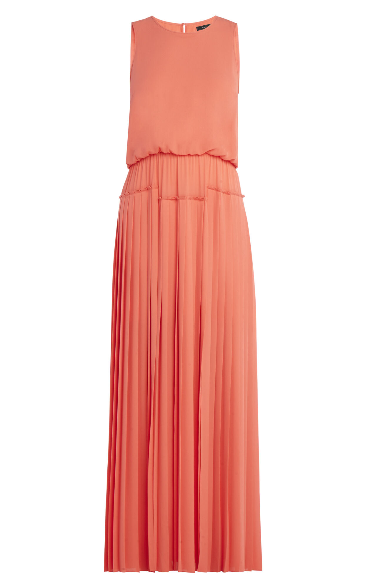 bcbgmaxazria jenine high slit pleated skirt maxi dress
