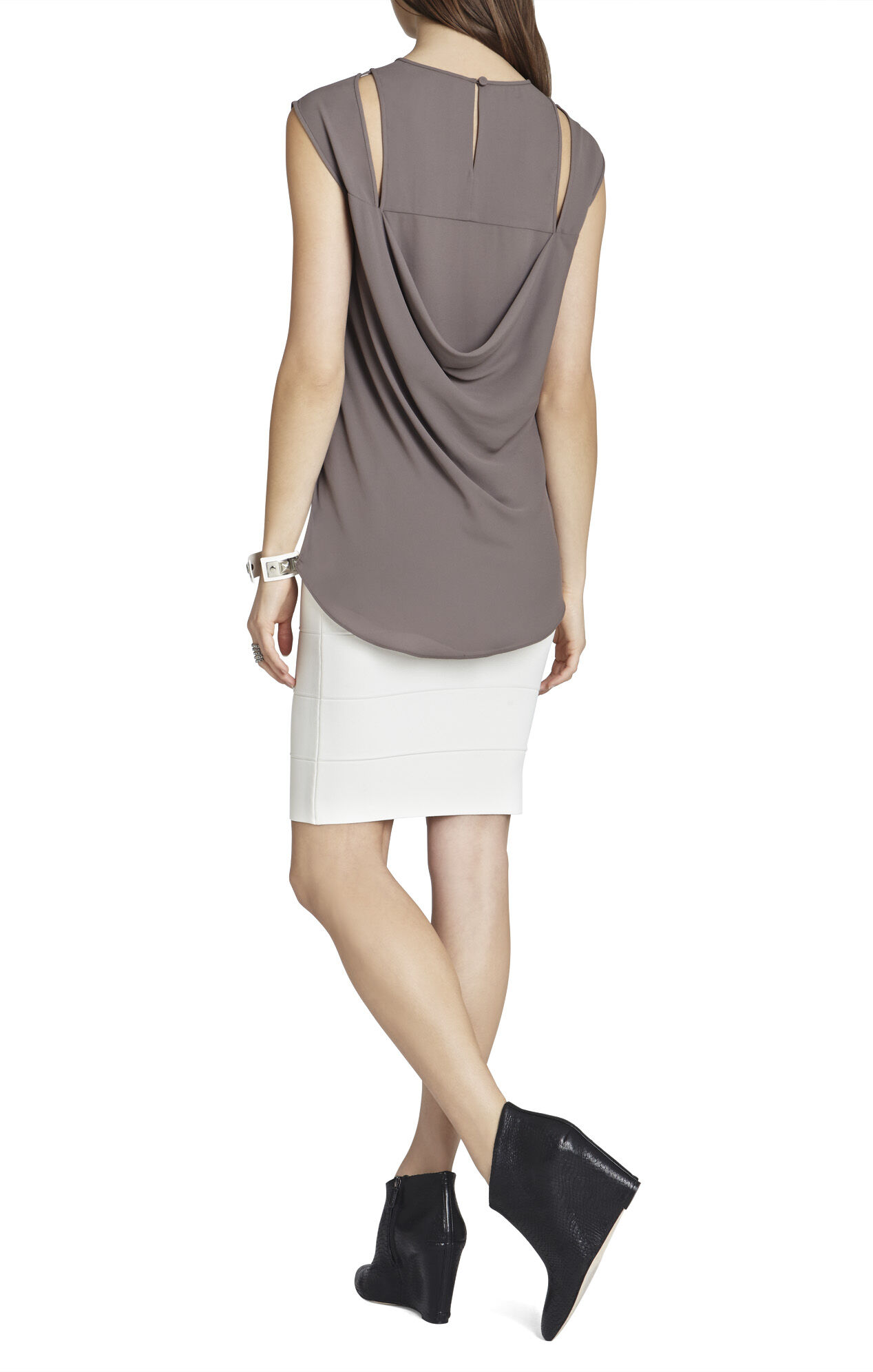 Valery Cutout Cap-Sleeve Top