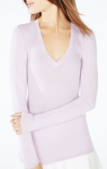 Jan V-Neck Long-Sleeve Top