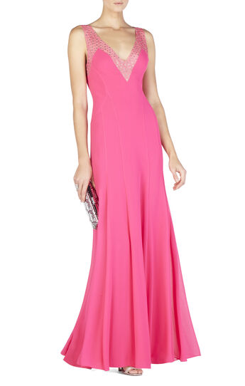 Mariena Embellished Plunging V-Neck Gown