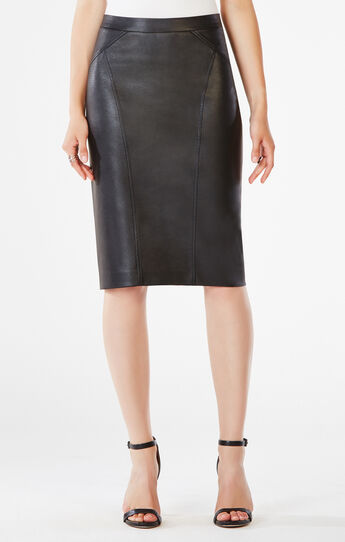 Natilie Faux-Leather Skirt