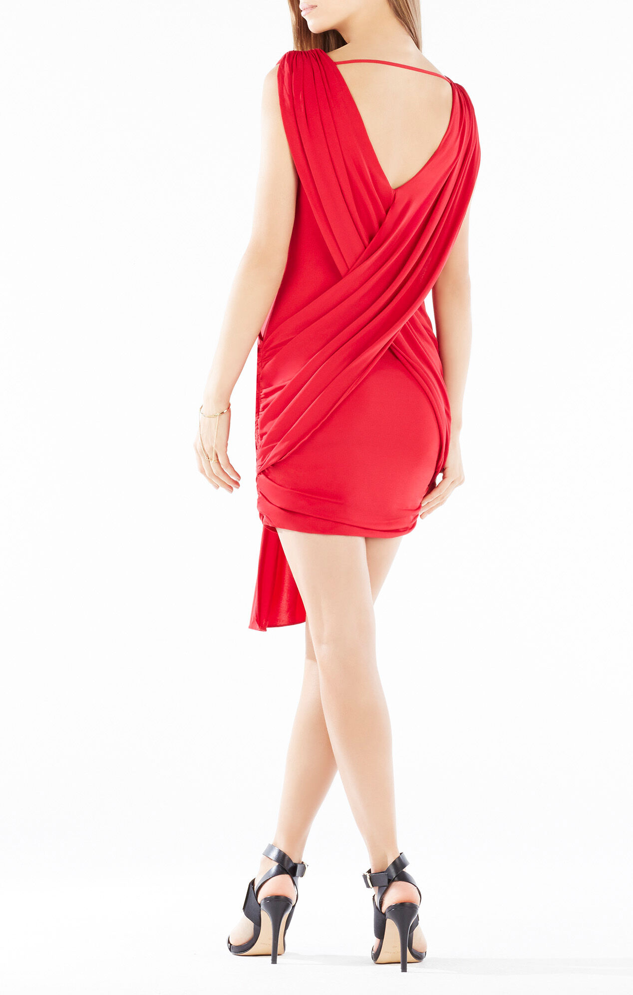 Elize Draped Crisscross Dress