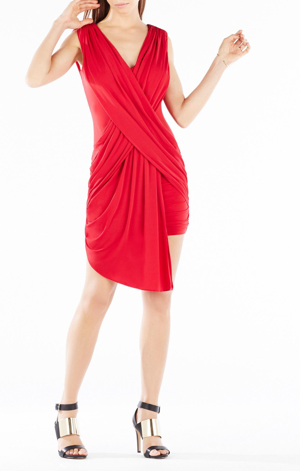 Elize Draped Crisscross Dress