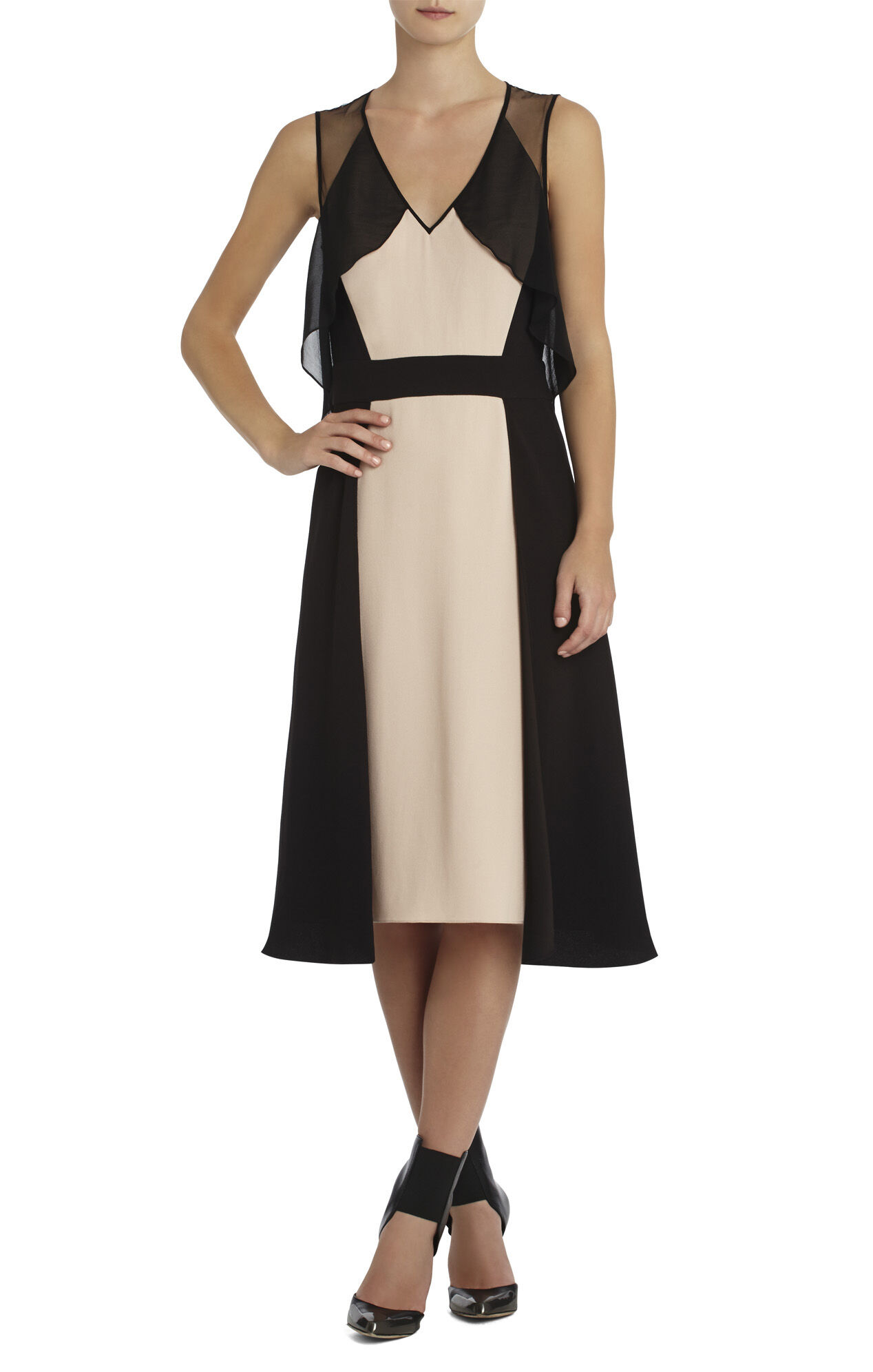 Runway Clarabel Color-Blocked Dress
