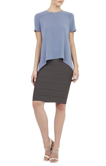 Nalia Short-Sleeve Blocked Top