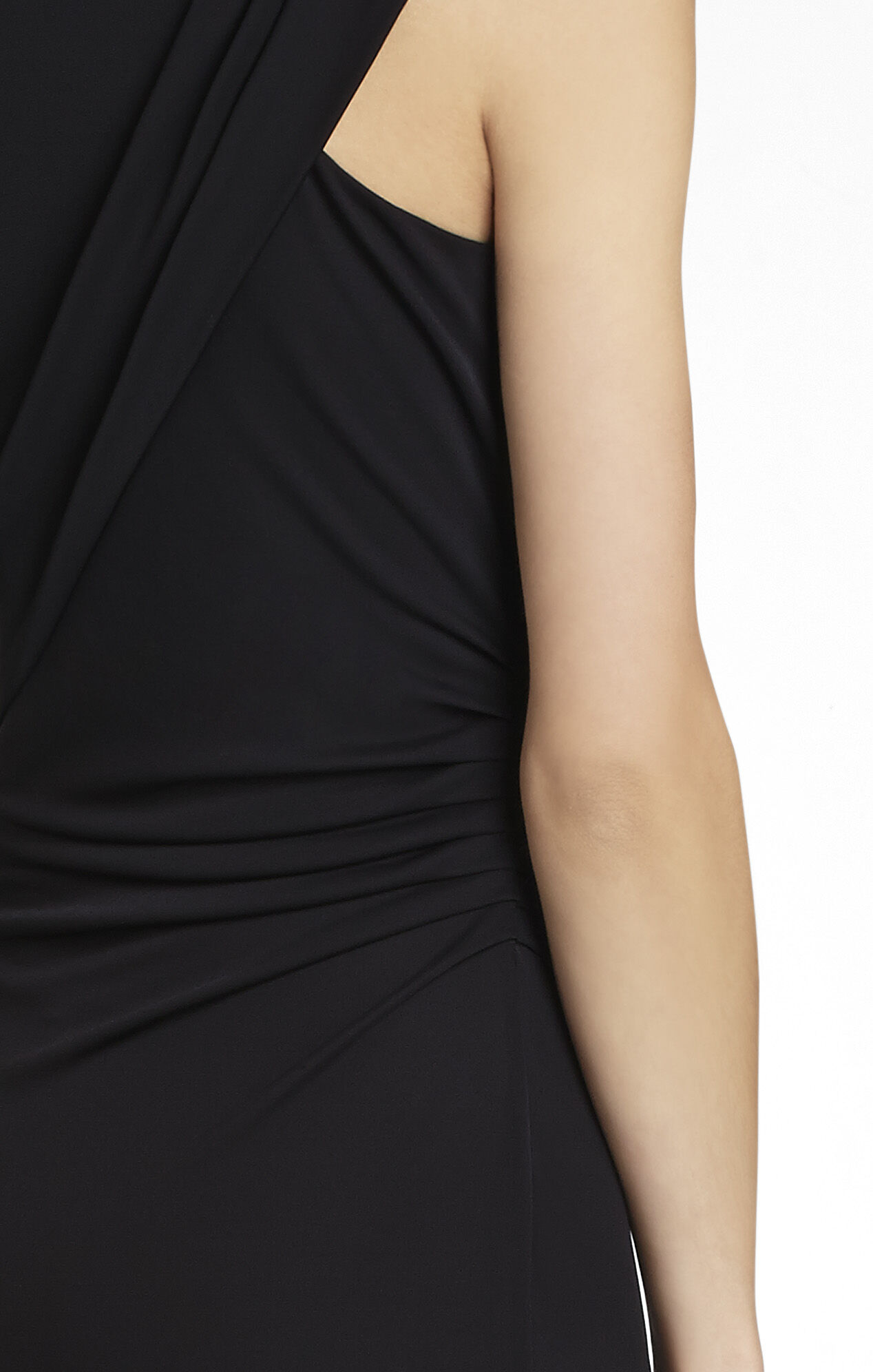 Simone Shoulder-Draped Cutout Dress