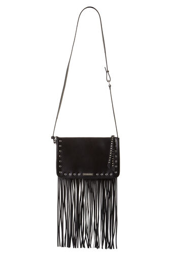 Deva Fringe Studded Leather Cross-Body