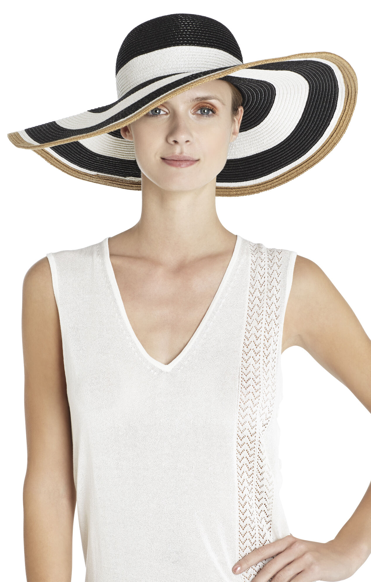 Bold Stripe Floppy Hat