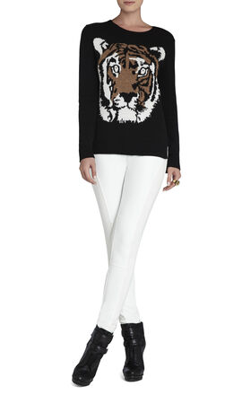 Wanda Intarsia Tiger Pullover