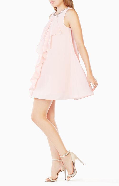 Lilleth Beaded Ruffled Dress
