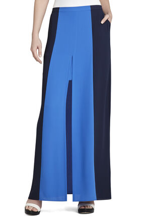 Jane Contrast-Trim Long Skirt