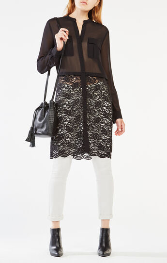 Taelur Lace-Paneled Top