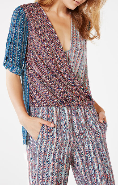 Jaklyn Chevron Print Top