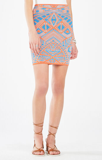 Pavel Medallion Knit Jacquard Power Skirt