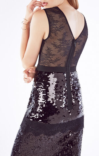 Reyna Sequined Lace Dress