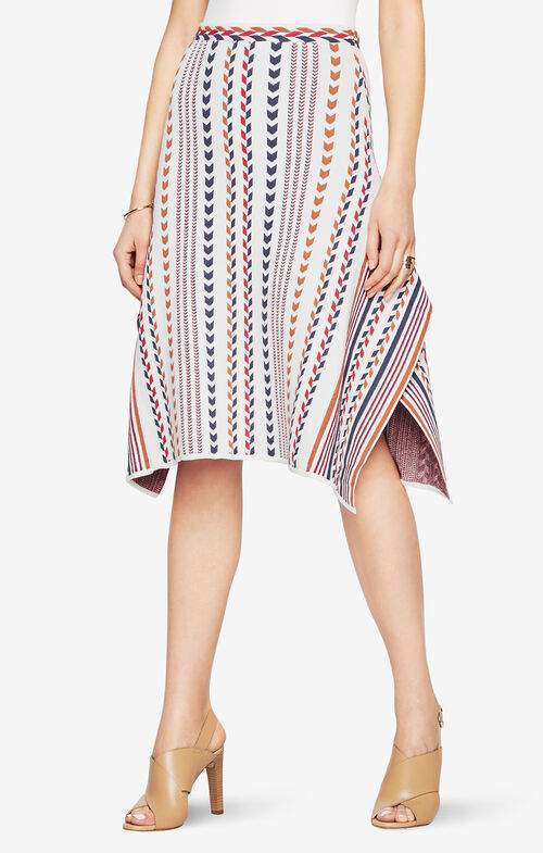 Dominik Chevron-Jacquard Skirt