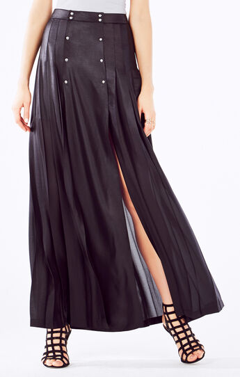 Lanae Pleated Maxi Skirt