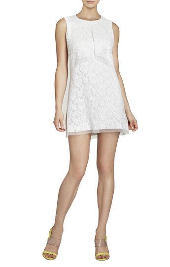 Amelie Draped Sleeveless Lace Dress