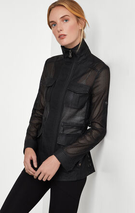 Bronnen Perforated Open-Back Jacket