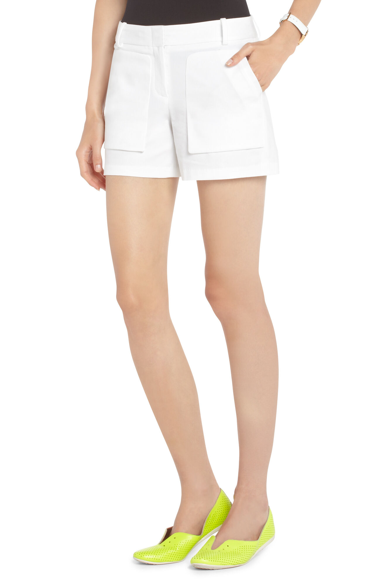 Bruna Patch-Pocket Shorts