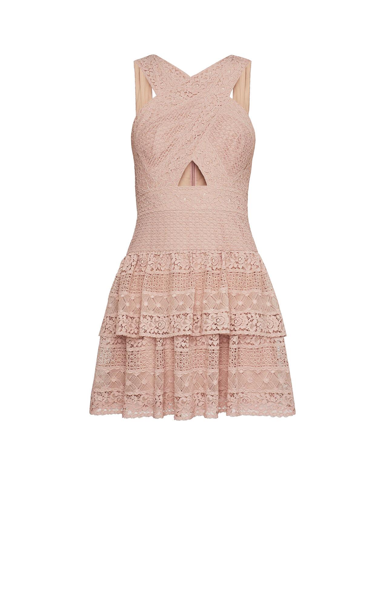 Alissa Ruffled Lace Dress