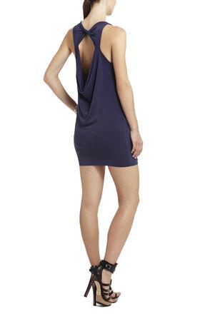 Vivia Draped Open-Back Dress