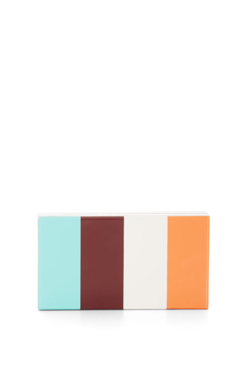 Zandra Lucite Box Clutch