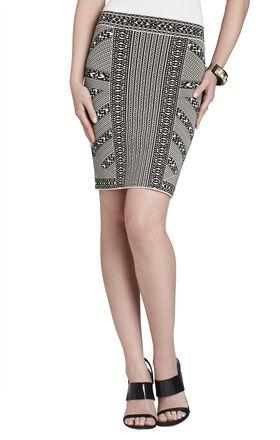Josa Embroidered Jacquard Skirt