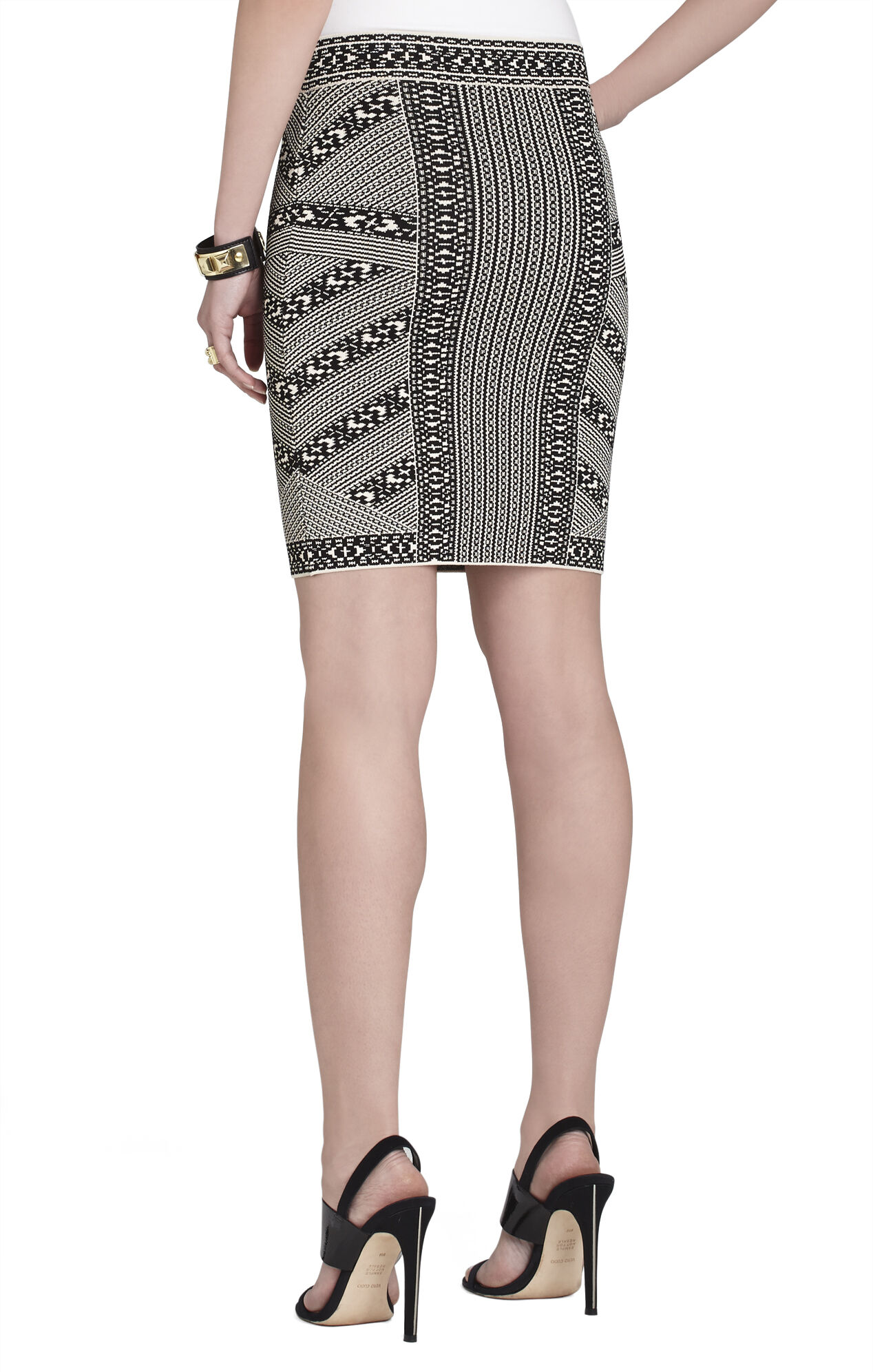 Josa Embroidered Jacquard Skirt