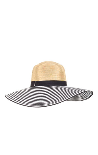 Vintage Striped Straw Panama Hat