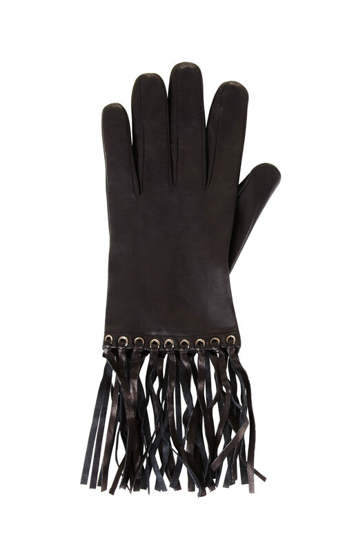 Fringe Leather Gloves