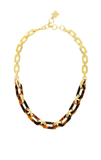 Tortoise Chain-Link Necklace