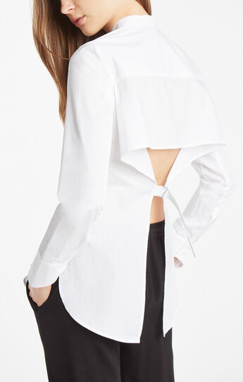 Victoriya Open-Back Button-Down Shirt